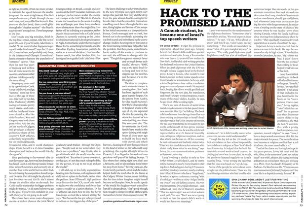 Article Preview: HACK TO THE PROMISED LAND, APR. 14th 2008 2008 | Maclean's