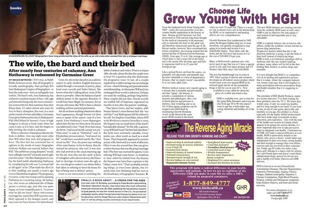 Article Preview: The wife, the bard and their bed, APR. 14th 2008 2008 | Maclean's
