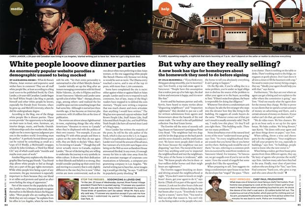 Article Preview: White people looove dinner parties, APR. 14th 2008 2008 | Maclean's