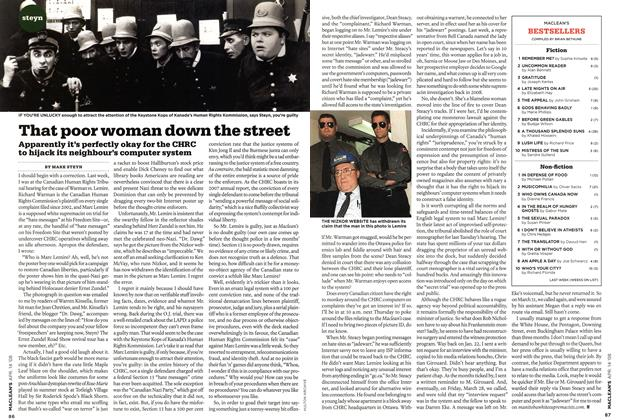 Article Preview: That poor woman down the street, APR. 14th 2008 2008 | Maclean's
