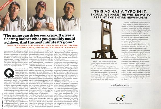 Article Preview: 'The game can drive you crazy. It gives a fleeting look at what you possibly could achieve. And the next minute it's gone.', APR. 21st 2008 2008 | Maclean's