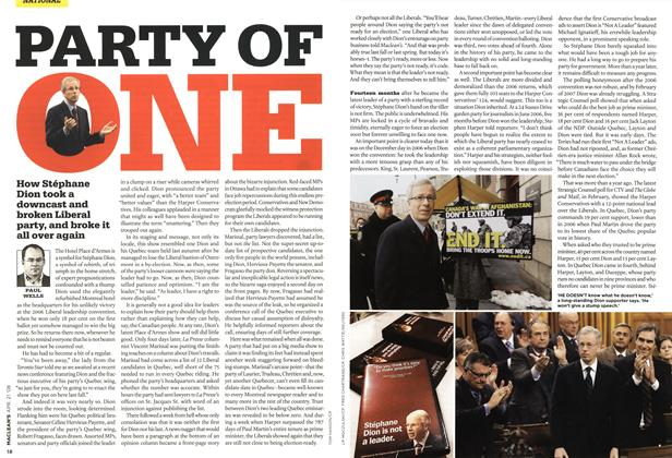 Article Preview: PARTY OF ONE, APR. 21st 2008 2008 | Maclean's