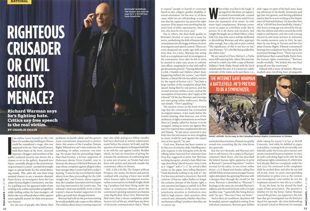 Article Preview: RIGHTEOUS CRUSADER OR CIVIL RIGHTS MENACE?, APR. 21st 2008 2008 | Maclean's