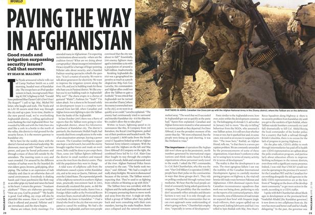 Article Preview: PAVING THE WAY IN AFGHANISTAN, APR. 21st 2008 2008 | Maclean's