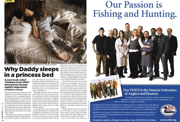 Article Preview: Why Daddy sleeps in a princess bed, APR. 21st 2008 2008 | Maclean's