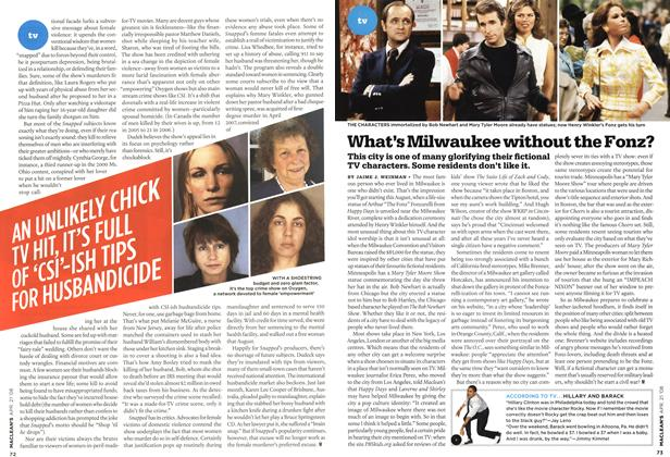 Article Preview: What's Milwaukee without the Fonz?, APR. 21st 2008 2008 | Maclean's