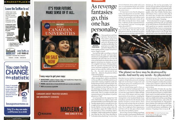 Article Preview: As revenge fantasies go, this one has personality, APR. 21st 2008 2008 | Maclean's