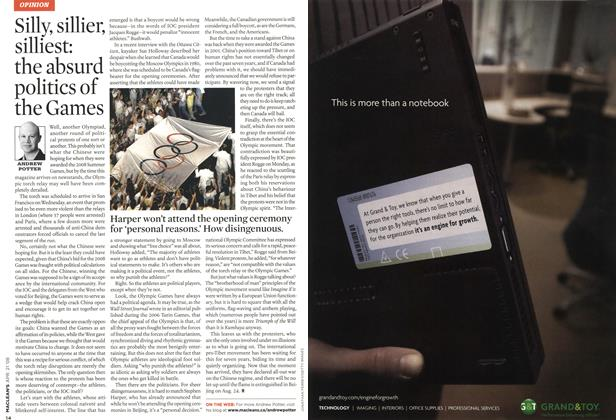 Article Preview: Silly, sillier, silliest: the absurd politics of the Games, APR. 21st 2008 2008 | Maclean's
