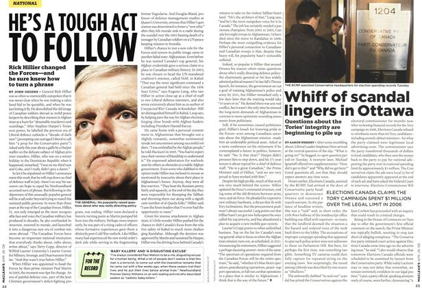 Article Preview: HE'S A TOUGH ACT TO FOLLOW, APR. 28th 2008 2008 | Maclean's