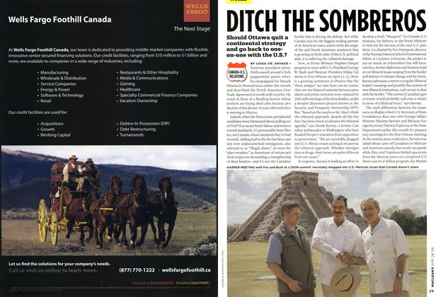 Article Preview: DITCH THE SOMBREROS, APR. 28th 2008 2008 | Maclean's
