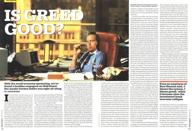 Article Preview: IS GREED GOOD?, APR. 28th 2008 2008 | Maclean's