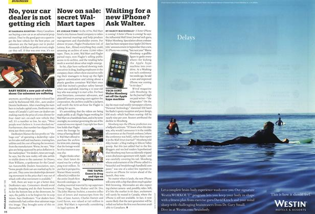 Article Preview: Waiting for a new iPhone? Ask Walter., APR. 28th 2008 2008 | Maclean's