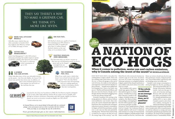 Article Preview: NATION OF ECO-HOGS, APR. 28th 2008 2008 | Maclean's