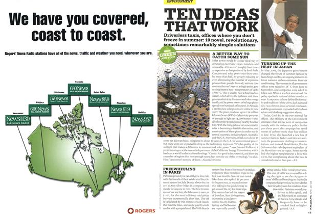 Article Preview: TEN IDEAS THAT WORK, APR. 28th 2008 2008 | Maclean's