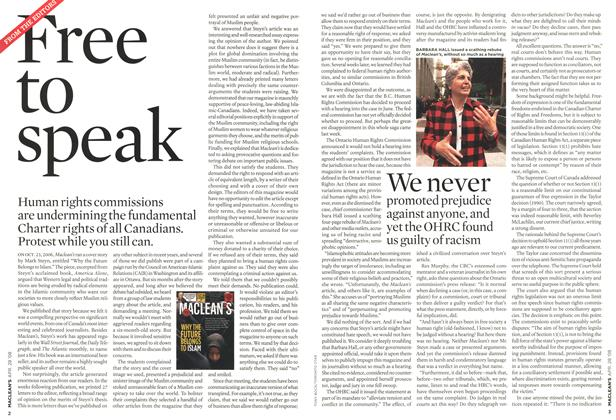 Article Preview: Free to speak, APR. 28th 2008 2008 | Maclean's
