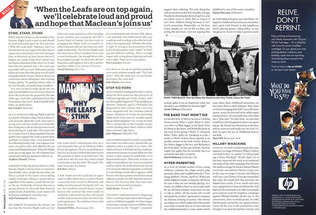 Article Preview: 'When the Leafs are on top again, we'll celebrate loud and proud and hope that Maclean's joins us', APR. 28th 2008 2008 | Maclean's
