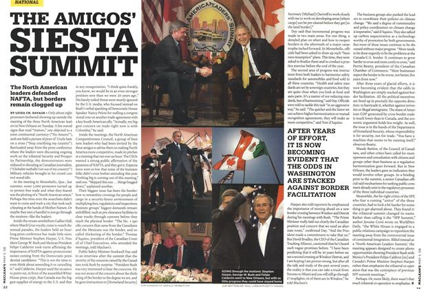 Article Preview: THE AMIGOS' SIESTA SUMMIT, MAY 5th 2008 2008 | Maclean's