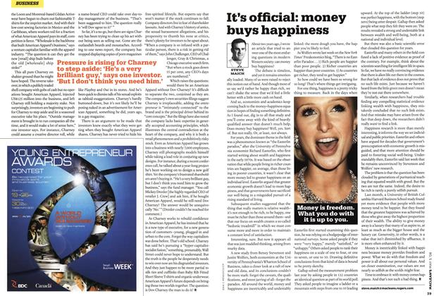 Article Preview: It's official: money buys happiness, MAY 5th 2008 2008 | Maclean's