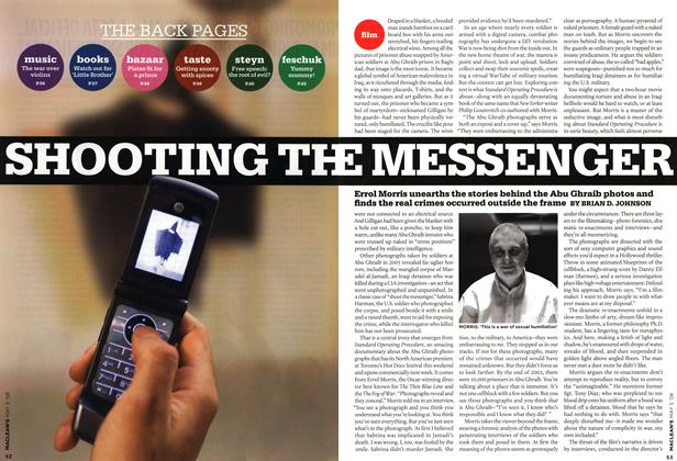 Article Preview: SHOOTING THE MESSENGER, MAY 5th 2008 2008 | Maclean's