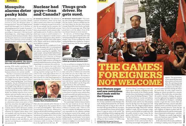 Article Preview: THE GAMES: FOREIGNERS NOT WELCOME, MAY 12th 2008 2008 | Maclean's