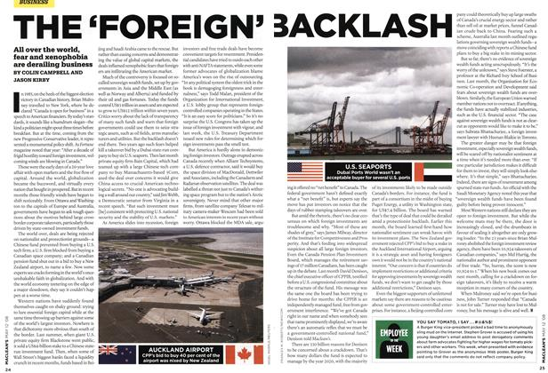 Article Preview: THE 'FOREIGN' BACKLASH, MAY 12th 2008 2008 | Maclean's