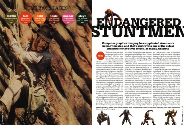 Article Preview: ENDANGERED STUNTMEN, MAY 12th 2008 2008 | Maclean's