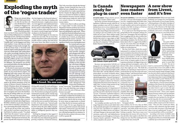 Article Preview: Is Canada ready for plug-in cars?, MAY. 19th 2008 2008 | Maclean's