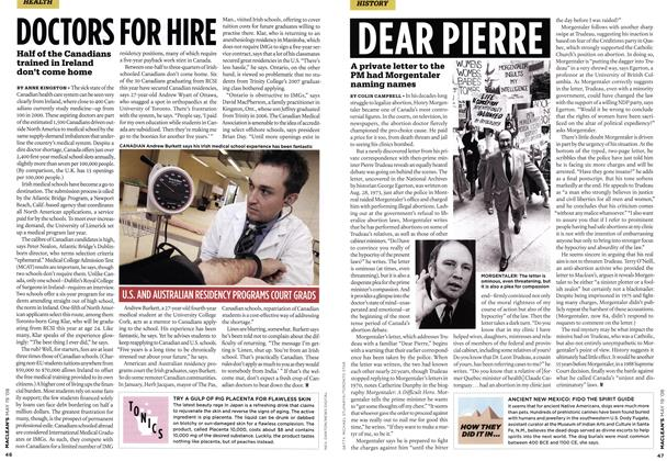 Article Preview: DOCTORS FOR HIRE, MAY. 19th 2008 2008 | Maclean's