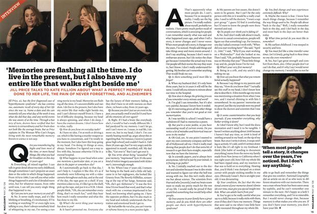 Article Preview: 'Memories are flashing all the time. I do live in the present, but I also have my entire life that walks right beside me', MAY 26th 2008 2008   Maclean's