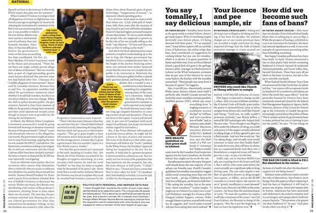 Article Preview: Your licence and pee sample, sir, MAY 26th 2008 2008 | Maclean's