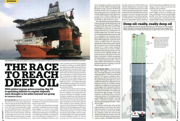 Article Preview: THE RACE TO REACH DEEP OIL, MAY 26th 2008 2008 | Maclean's