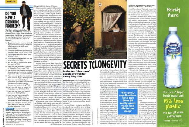 Article Preview: SECRETS TO LONGEVITY, MAY 26th 2008 2008 | Maclean's