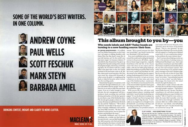 Article Preview: This album brought to you by—you, MAY 26th 2008 2008 | Maclean's