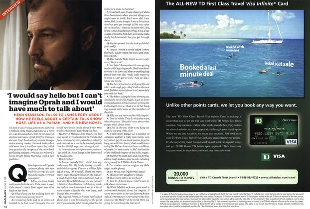 Article Preview: INTERVIEW, JUN. 9th 2008 2008 | Maclean's