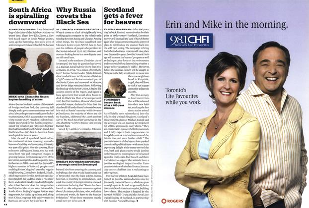 Article Preview: Scotland gets a fever for beavers, JUN. 9th 2008 2008 | Maclean's