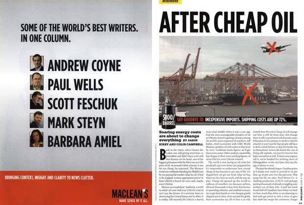 Article Preview: AFTER CHEAP OIL, JUN. 9th 2008 2008 | Maclean's