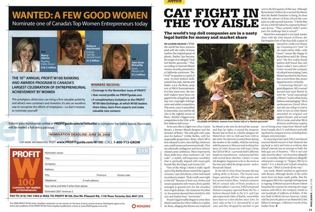 Article Preview: CAT FIGHT IN THE TOY AISLE, JUN. 9th 2008 2008 | Maclean's
