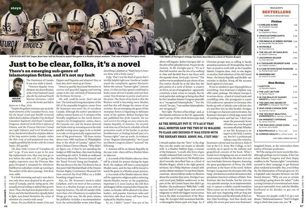 Article Preview: Just to be clear, folks, it's a novel, JUN. 9th 2008 2008 | Maclean's