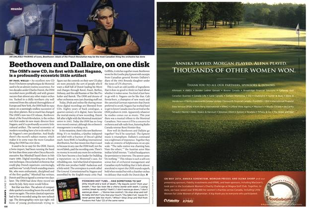 Article Preview: Beethoven and Dallaire, on one disk, JUN. 9th 2008 2008 | Maclean's