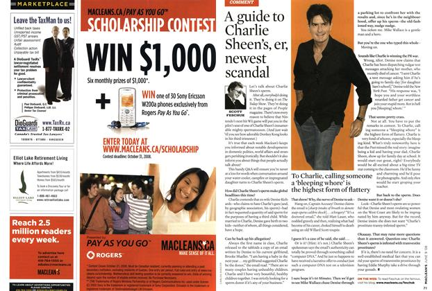 Article Preview: A guide to Charlie Sheen's, er, newest scandal, JUN. 9th 2008 2008 | Maclean's