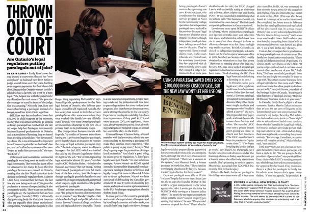 Article Preview: THROWN OUT OF COURT, June 2008 | Maclean's