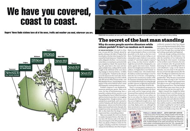 Article Preview: The secret of the last man standing, June 2008   Maclean's
