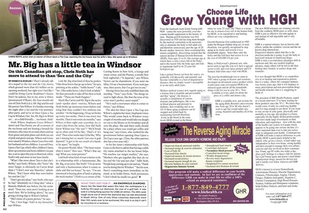 Article Preview: Mr. Big has a little tea in Windsor, June 2008 | Maclean's