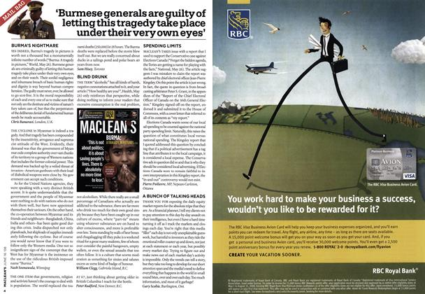 Article Preview: MAIL BAG, June 2008 | Maclean's