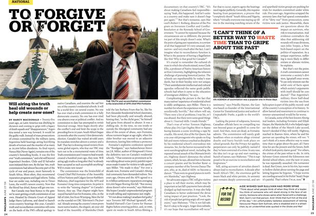 Article Preview: TO FORGIVE OR FORGET, JUNE 23rd 2008 2008 | Maclean's