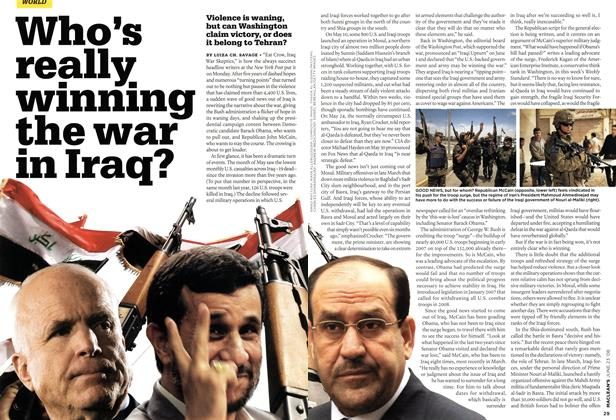 Article Preview: Who's really winning the war in Iraq?, JUNE 23rd 2008 2008 | Maclean's