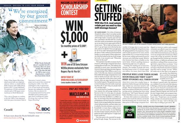 Article Preview: GETTING STUFFED, JUNE 23rd 2008 2008 | Maclean's