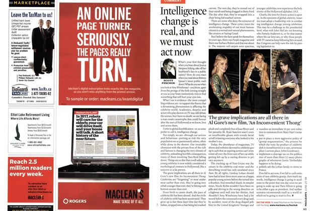 Article Preview: Intelligence change is real, and we must act now, JUNE 23rd 2008 2008 | Maclean's