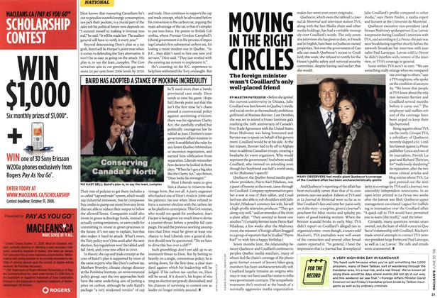 Article Preview: MOVING IN THE RIGHT CIRCLES, JUNE 30th 2008 2008 | Maclean's
