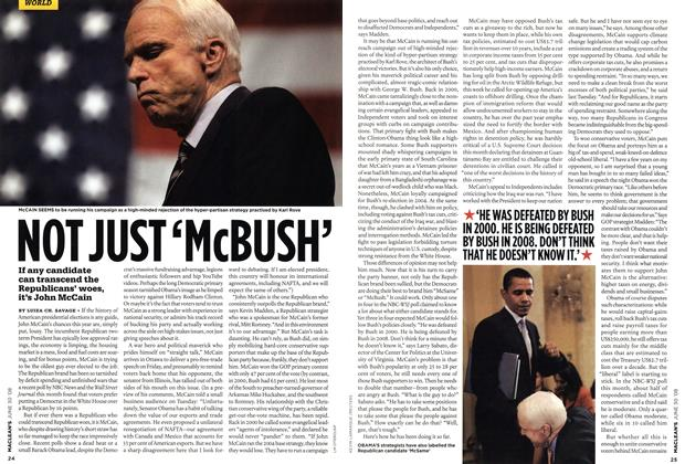 Article Preview: NOT JUST 'McBUSH', JUNE 30th 2008 2008   Maclean's